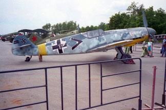 das deutsche Jagd-Flugzeug Me 109