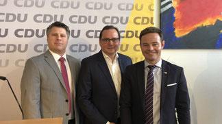FDP Vorsitzender Leson, OB Kufen, CDU Vorsitzender Ehm