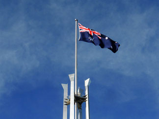 The flagpole at Parliament House
