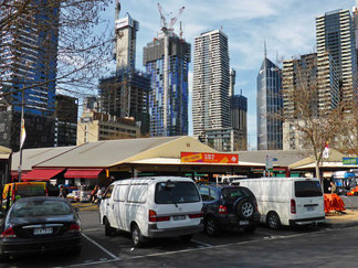 Cars parked at Queen Victoria Markets, Melbourne