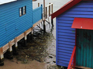 Boat sheds at Cornelian Bay