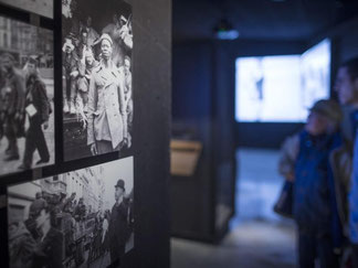 Blick in das Memorial Museum in Mons. Foto: Olivier Hoslet