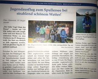 Artikel aus der aktuellen Vorarlberger Jagd- und Fischereizeitung, Oktober 2016