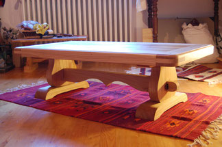 table chataignier massif
