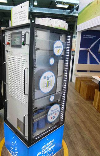 Batterietechnik Umwandlung in Wasserstoff System der Firma Minjoule