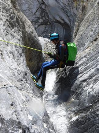 canyoning briançon clarée montgenèvre serre-chevalier canyon des acles