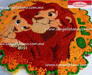 Pastel de Cupcakes Rey Leon Simba & Simba 120pzas