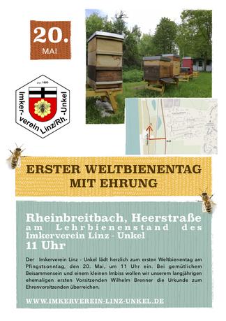 Einladung zum Weltbienentag mit Ehrung in Rheinbreitbach