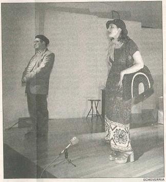 Pedro Echávarri y Natalia Lisarri preparan su papel en el Hospital Viejo.