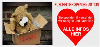 mueden.de, Blog, Kuscheltier Spenden-Aktion. Bild zeigt Plüschtier, Teddy und Herz