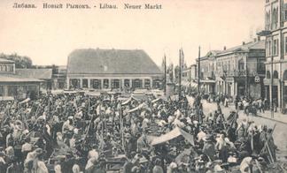 Libau, Neuer Markt um 1910