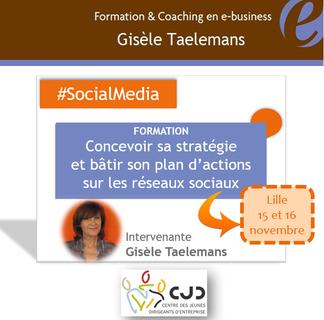 Formation Gisèle Taelemans : Concevoir sa stratégie et bâtir son plan d'actions sur les réseaux sociaux