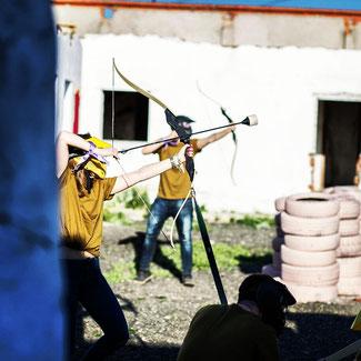 paintball infantil, gymkanas, batalla de arqueros, laser tag madrid