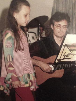 1995 mit meinem Gesangslehrer