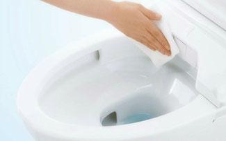 トイレのお掃除、簡単