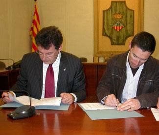 L'alcalde Miquel Noguer i el nostre president Llorenç Llop