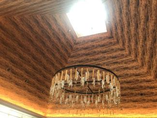 マリオット白馬のラヴァロックの天井