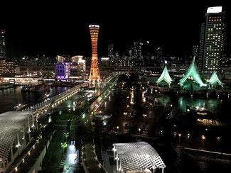 ホテル13階からの夜景(ノースビュー)