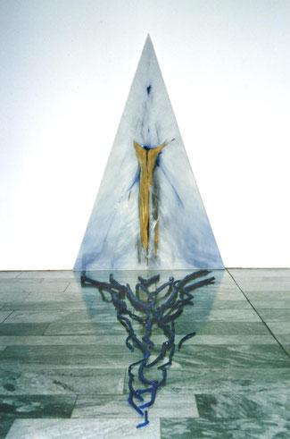 Dreieck, Acryl und Lack 1991  220 x 160 cm
