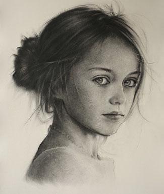 Portraitzeichnen nach Fotos Auftragsporträt, Kunstschule Düsseldorf