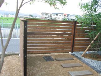 手作り木製フェンス