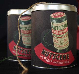 Retro Dose mit Gartengarn von der britischen Firma Nutscene
