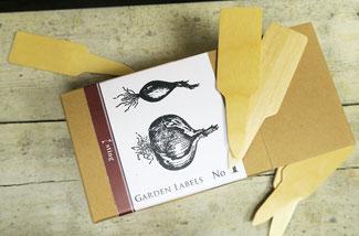 Kleine Pflanzschilder aus Holz bei www.the-golden-rabbit.de