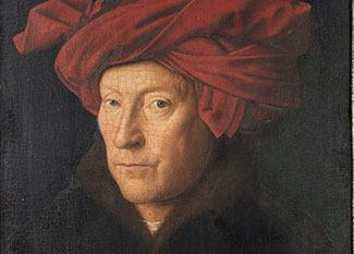 Jan van Eyck: Mann mit rotem Turban, 1433 (Ausschnitt)
