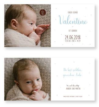 Geburtsanzeige Geburtskarte Schweiz Babykarte