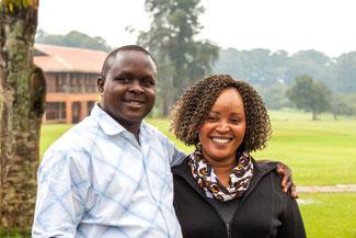Alex Wangengi mit seiner Frau Julia