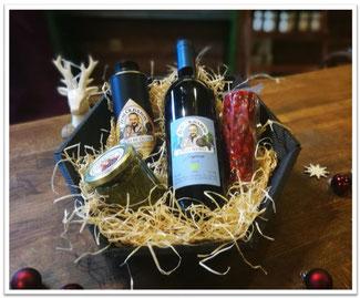 Geschenkkorb klein Wein