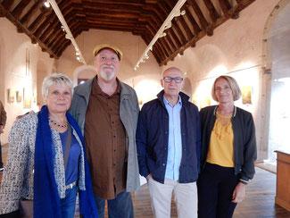 avec la peintre annette cunnac et le sculpeur jean-louis bauné et michele bauné