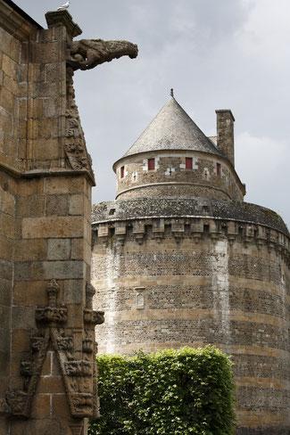 Vue sur le château de Fougères depuis l'église Saint-Sulpice © D. Bordes