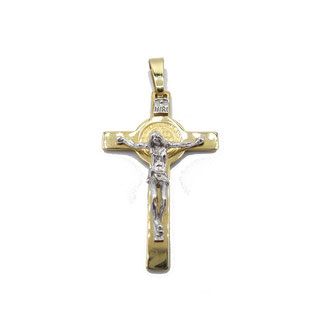 Croce di San Benedetto in oro 18 kt grammi 5.20