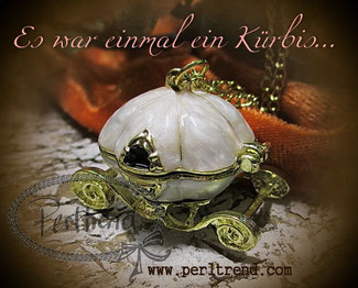 Kette Kürbiskutsche www.perltrend.com
