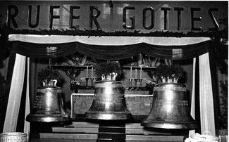 dudweiler, saarbruecken, katholisch, kirche, st. marien, glocken, 1953