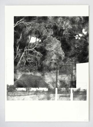 """Vendu - Sold /// """"INTERLUDE III"""" _ graphite et stylo _ 56x76cm"""