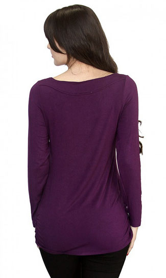 long sleeve maternity top royal purple