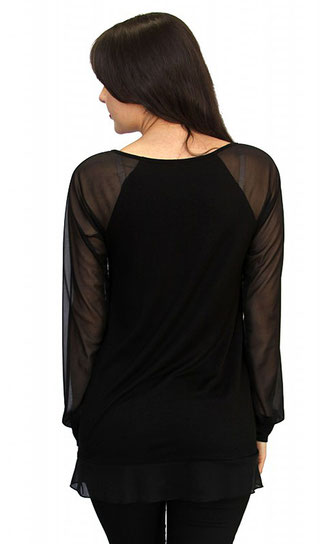 long sleeve maternity top royal black