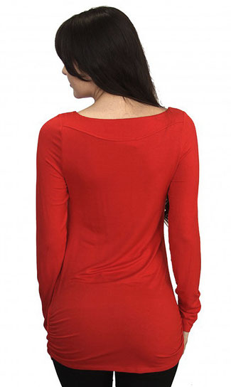 long sleeve maternity top royal red
