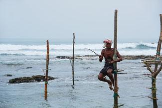 Sri Lanka, Stelzenfischer, Meer, Asien