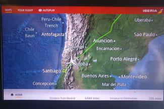 Anflug, Chile, Santiago, Iberia, Die Traumreiser