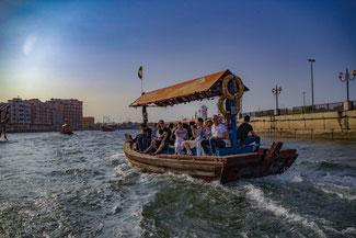 Dubai, VAE, UAE, Vereinigte Arabischen Emirate, Die Traumreiser, Dubai Creek, Abra, Wassertaxi