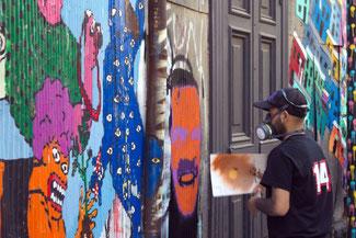 Streetart, Straßenkunst, Künstler, Valparaiso, Südamerika, Chile, Die Traumreiser