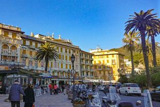 Italien, Italienische Riviera, Rapallo, Restaurants, Promenade, Die Traumreiser