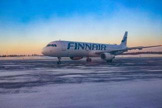 Flughafen Kittilä, Airport, Finnair, Flugzeug, Lappland, Die Traumreiser