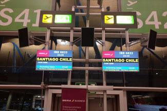 Madrid, Flughafen, Santiago, Iberia, Die Traumreiser