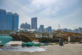 Abu Dhabi, UAE, VAE, Vereinigte Arabische Emirate, Dhow Harbour