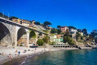 Italien, Italienische Riviera, Zoagli, Strand, Die Traumreiser