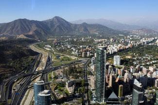 Aussichtsturm, Sky Costanera, Santiago de Chile, Südamerika, Chile, Die Traumreiser